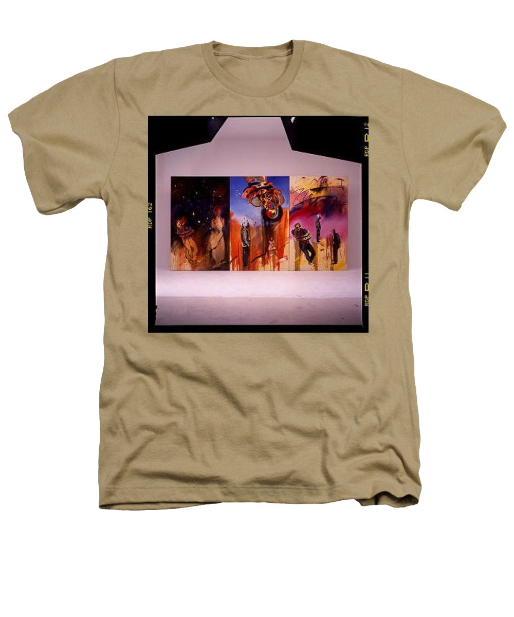 Canvas Heathers T-Shirt featuring the painting Love Hurts by Charles Stuart
