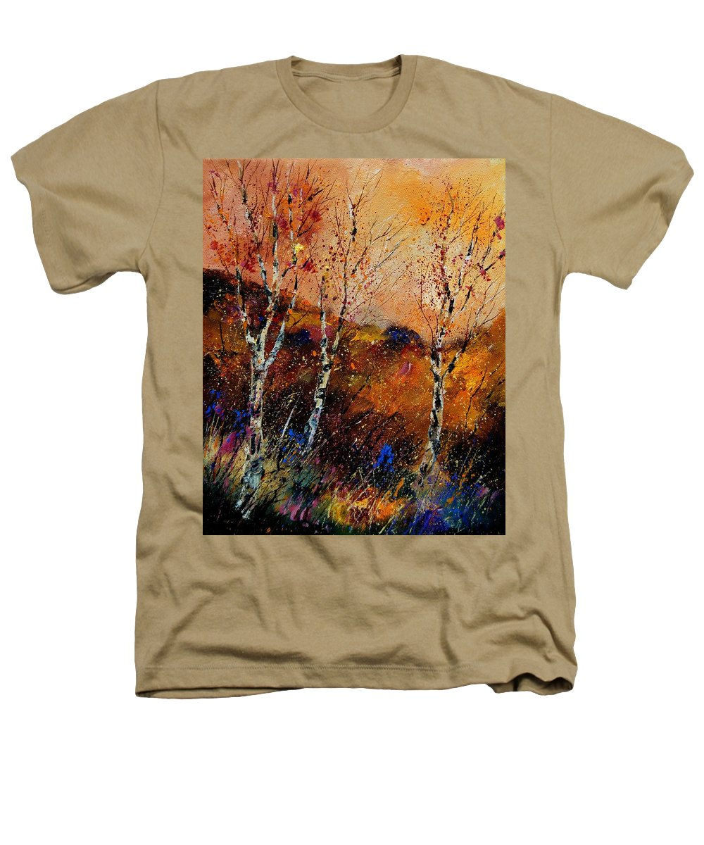 River Heathers T-Shirt featuring the painting 3 Poplars by Pol Ledent