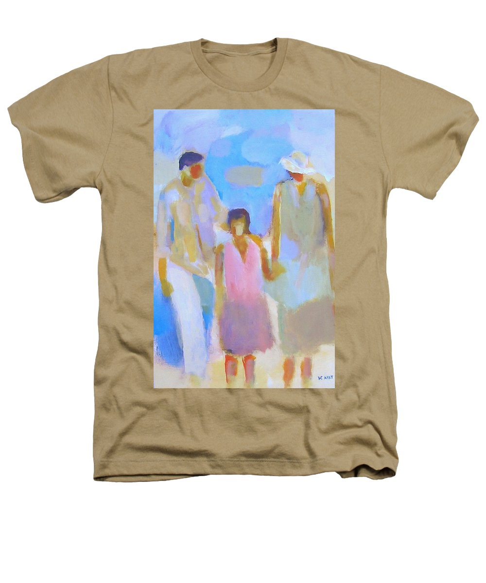 Abstract Heathers T-Shirt featuring the painting 3 With Love by Habib Ayat