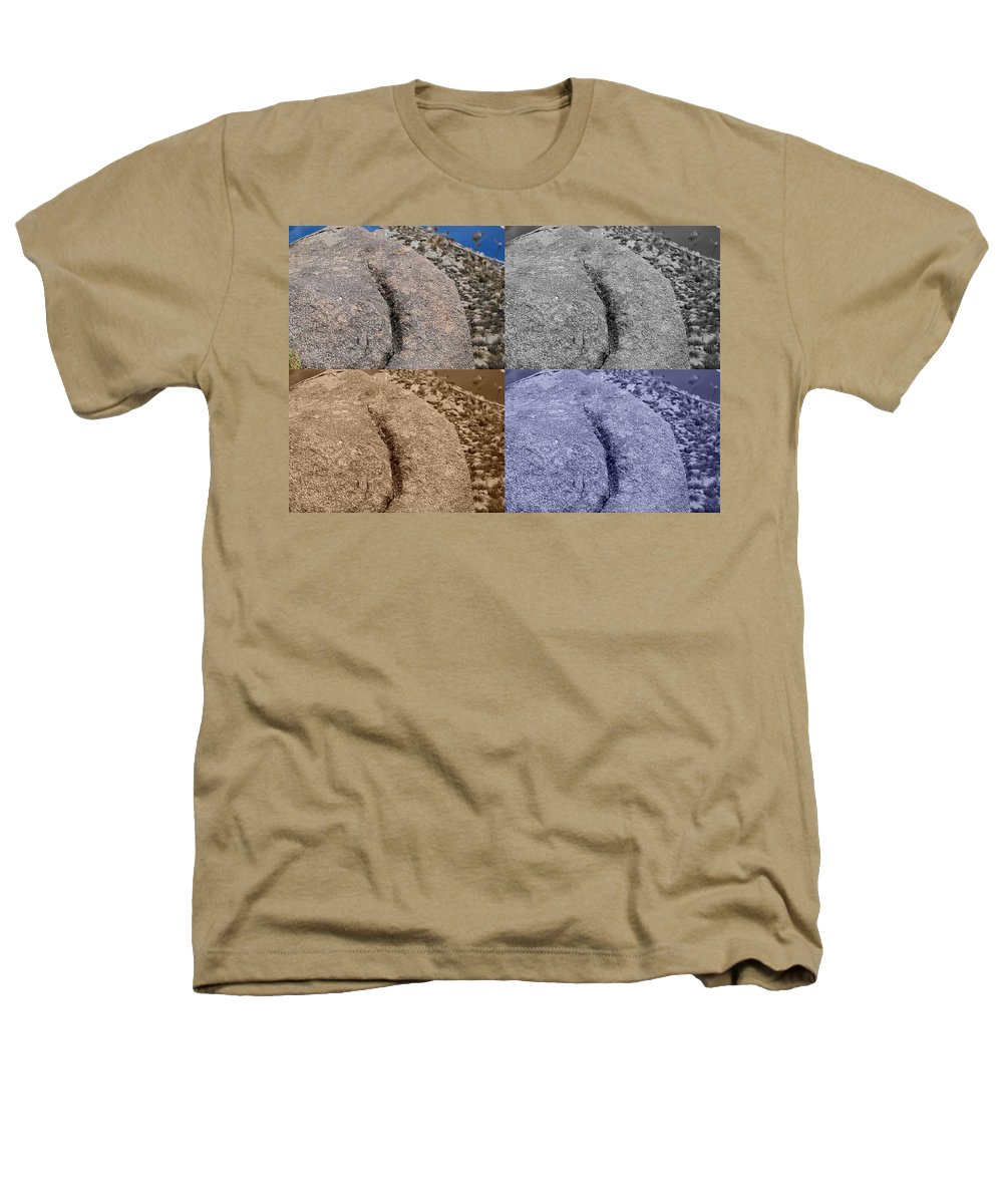 Sepia Heathers T-Shirt featuring the photograph 4 Crack Rocks New Mexico by Rob Hans
