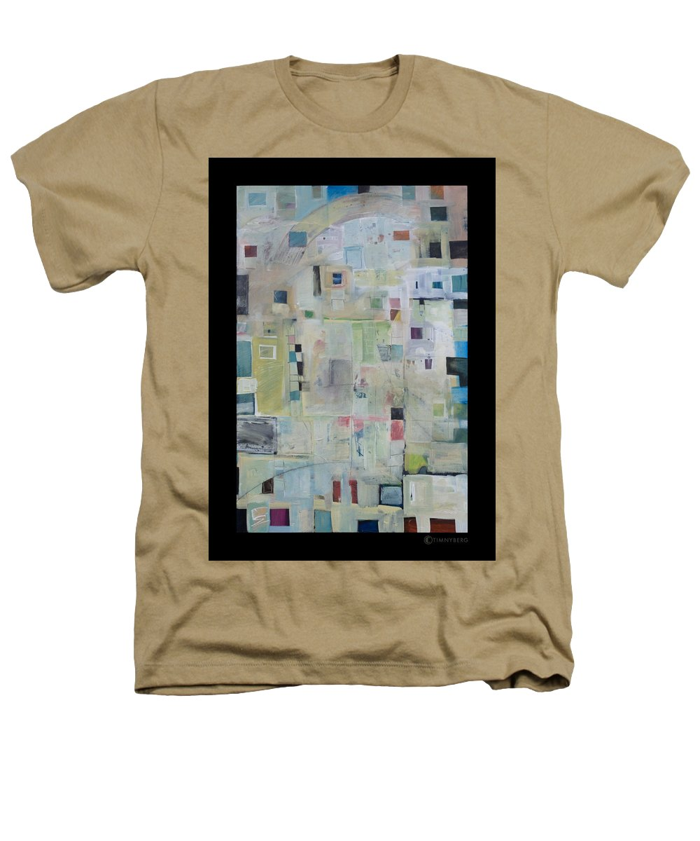 Abstract Heathers T-Shirt featuring the painting 7am In The City That Doesn by Tim Nyberg