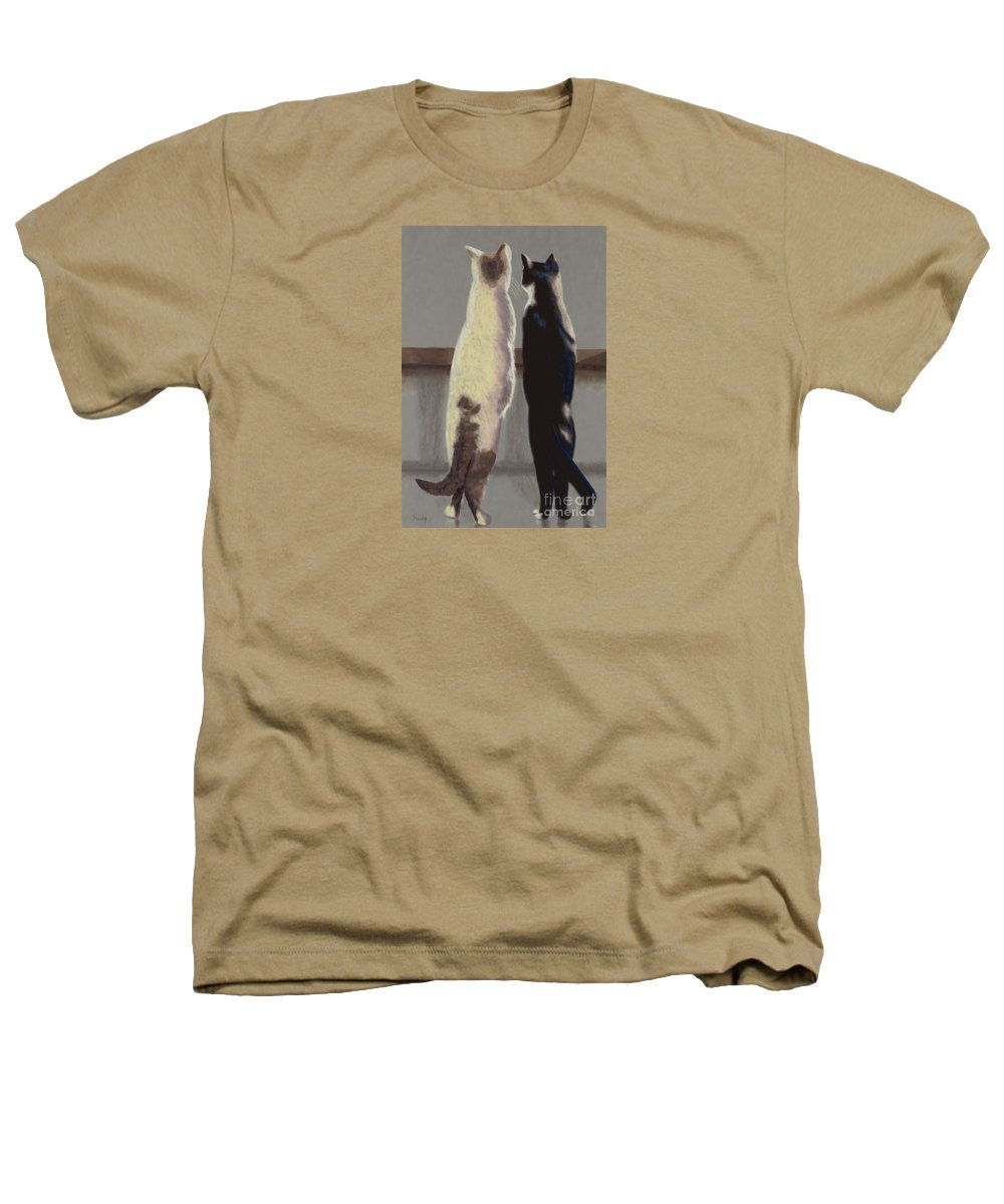 Cat Heathers T-Shirt featuring the painting A Bird by Linda Hiller