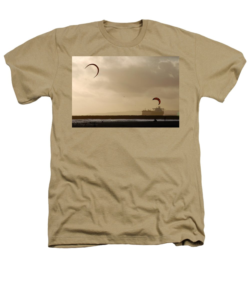 Clay Heathers T-Shirt featuring the photograph A Day At The Beach by Clayton Bruster