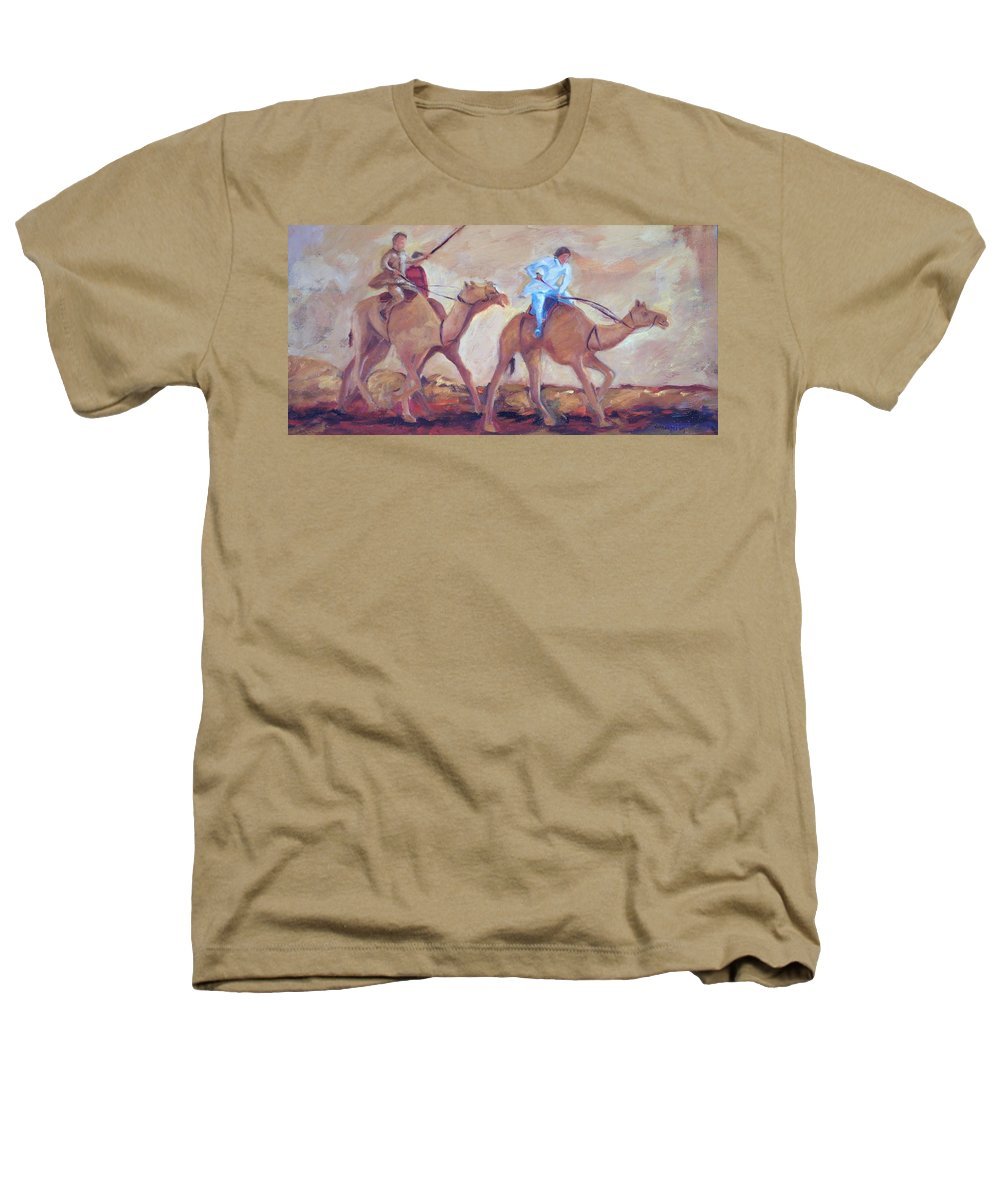 Figurative Heathers T-Shirt featuring the painting A Day At The Camel Races by Ginger Concepcion