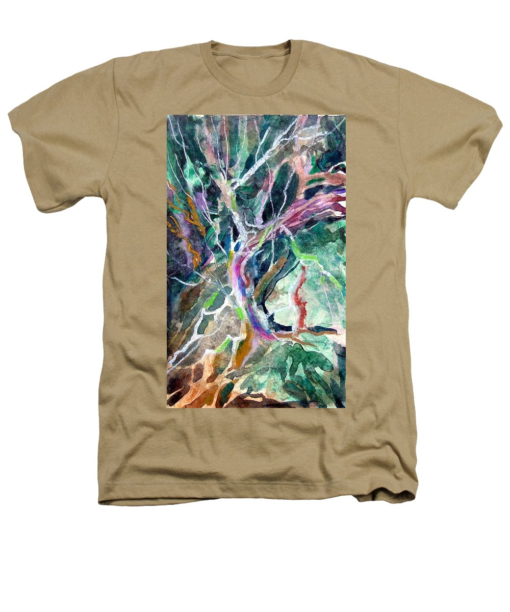 Tree Heathers T-Shirt featuring the painting A Dying Tree by Mindy Newman