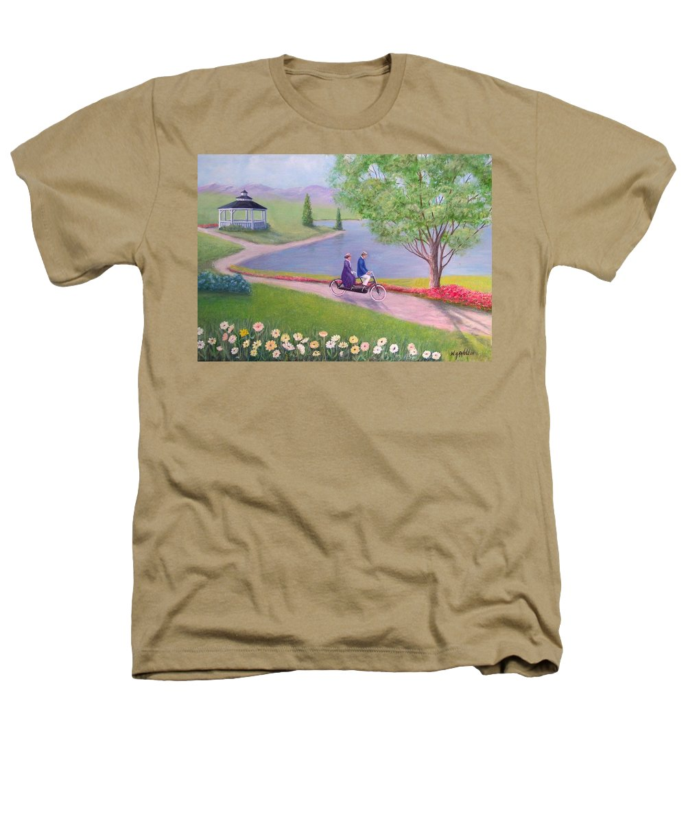 Landscape Heathers T-Shirt featuring the painting A Ride In The Park by William H RaVell III