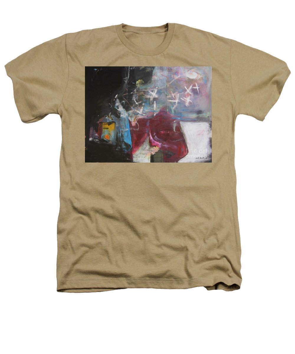 Abstract Paintings Heathers T-Shirt featuring the painting A Short Story by Seon-Jeong Kim