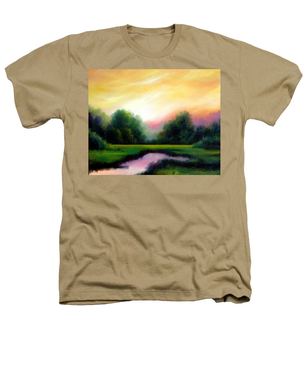 Clouds Heathers T-Shirt featuring the painting A Spring Evening by James Christopher Hill