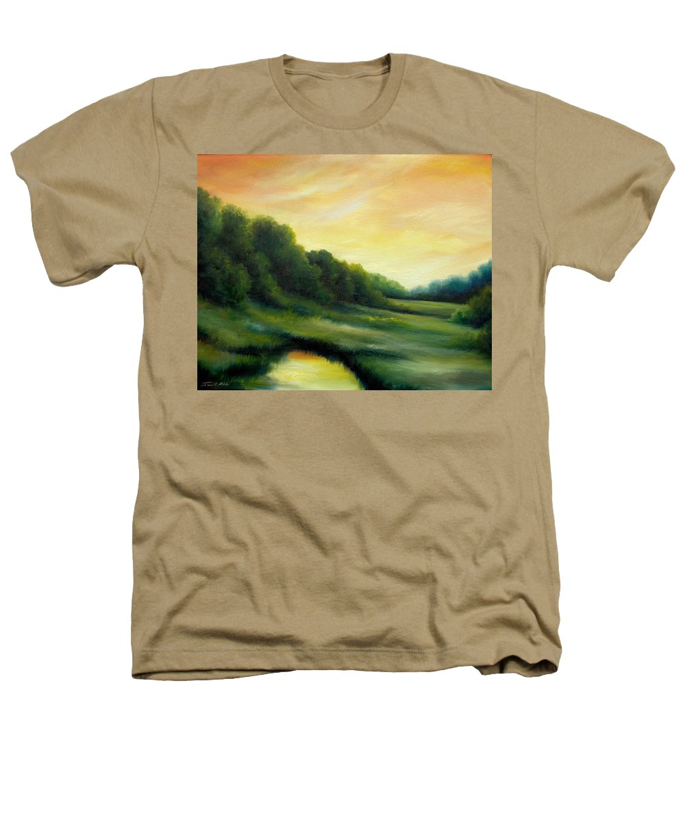 Clouds Heathers T-Shirt featuring the painting A Spring Evening Part Two by James Christopher Hill