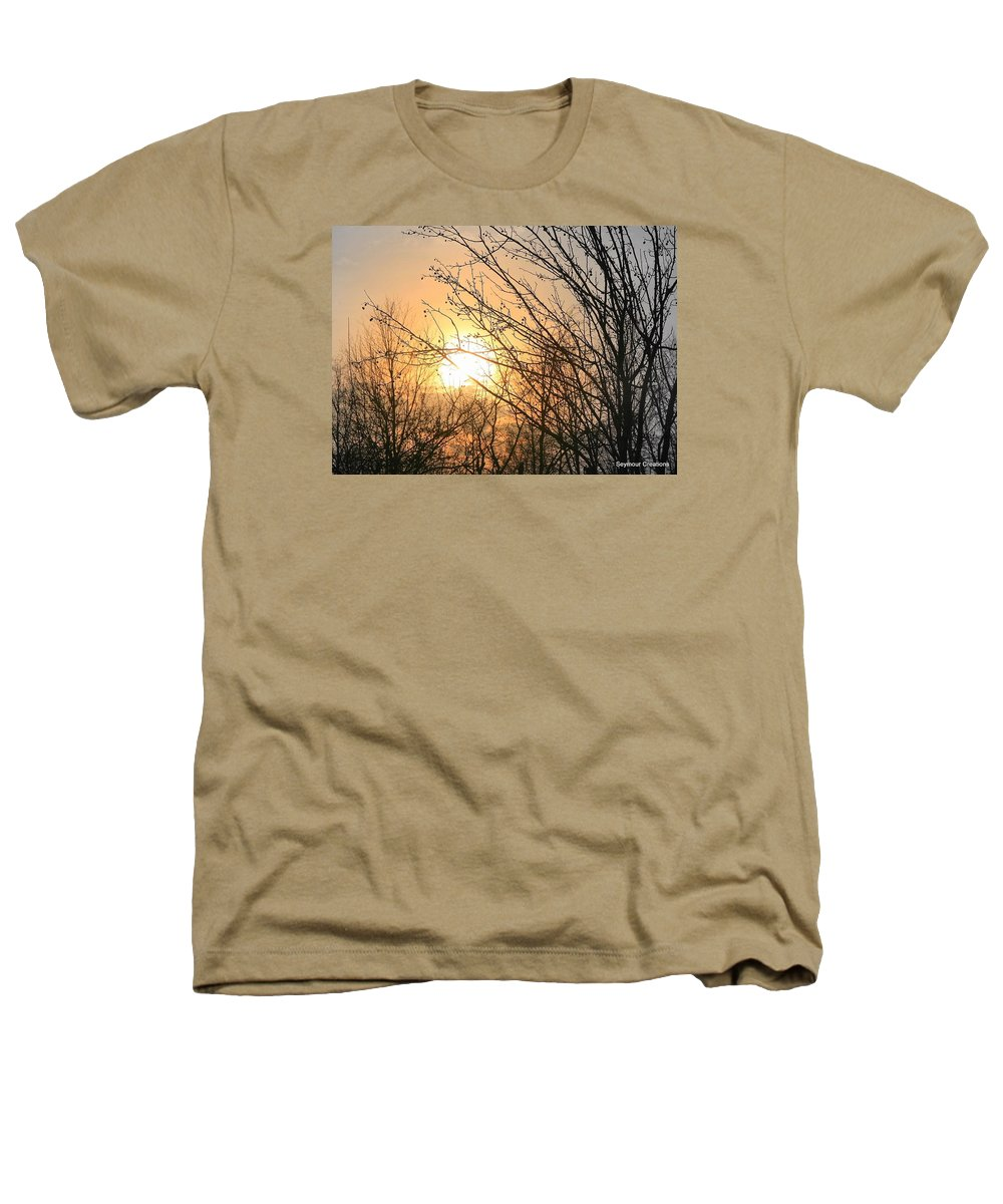 Sun Heathers T-Shirt featuring the photograph A Winter's Day After Glow by J R Seymour