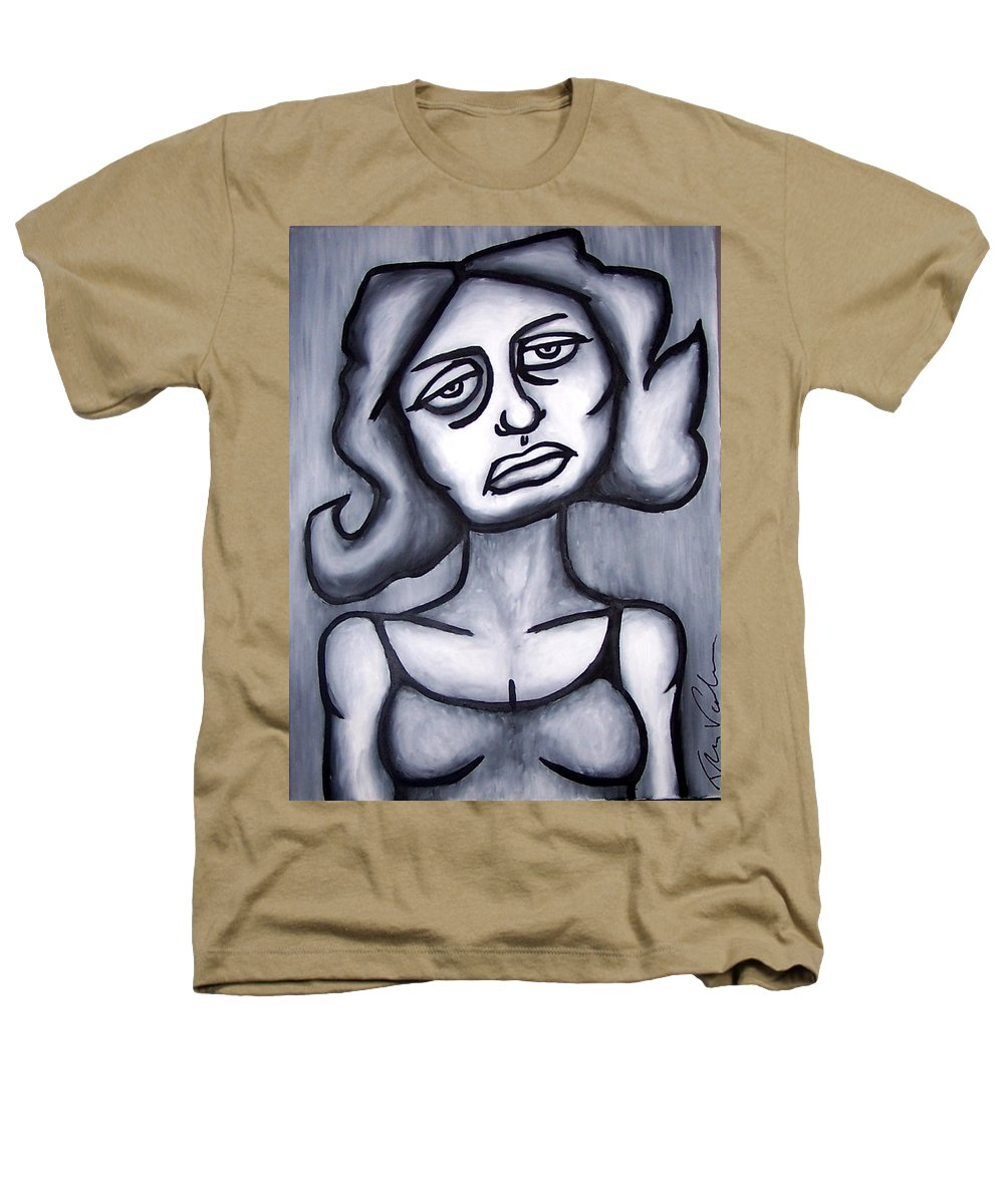 Portait Heathers T-Shirt featuring the painting A Woman by Thomas Valentine