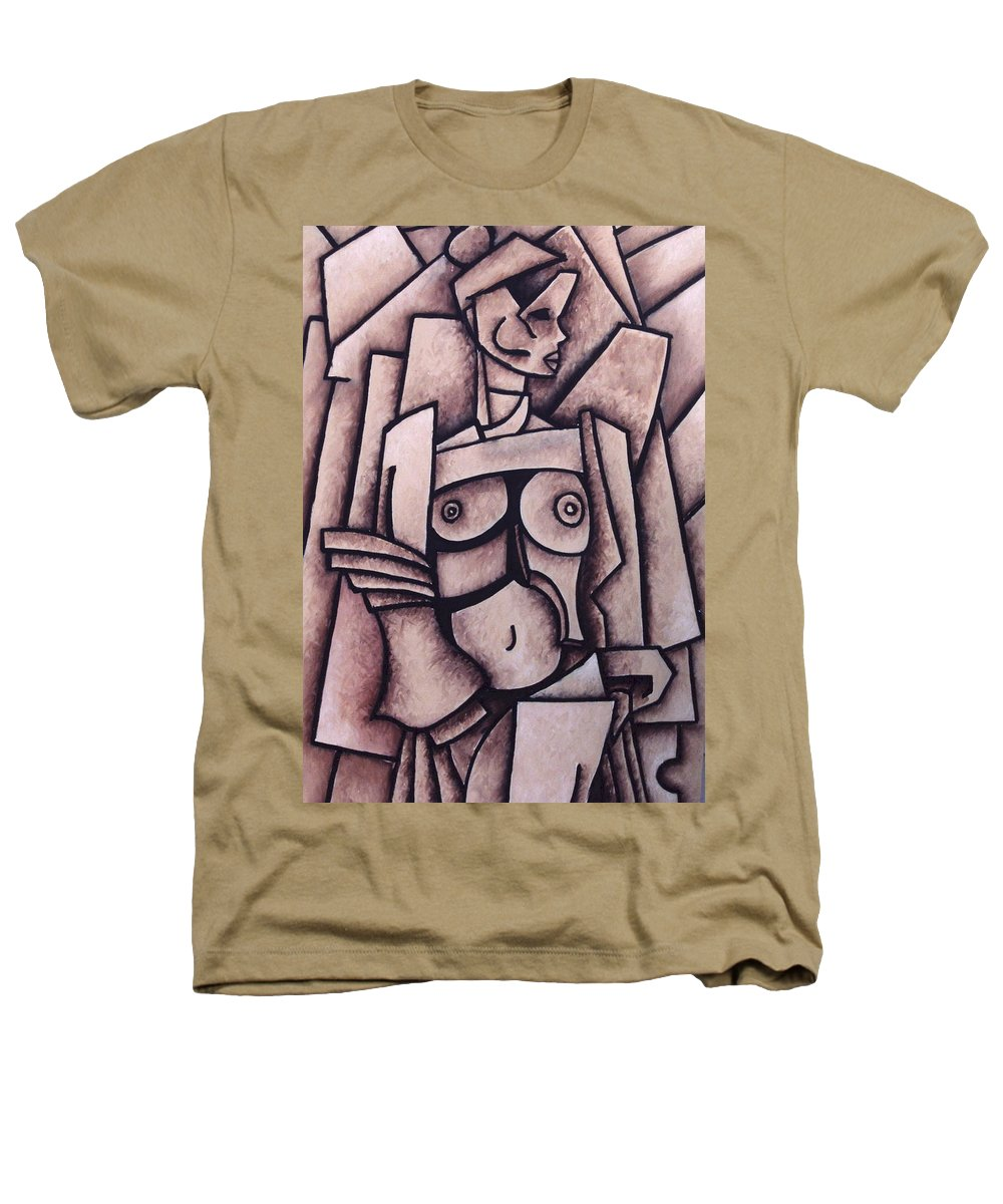 Absract Heathers T-Shirt featuring the painting Absract Girl by Thomas Valentine