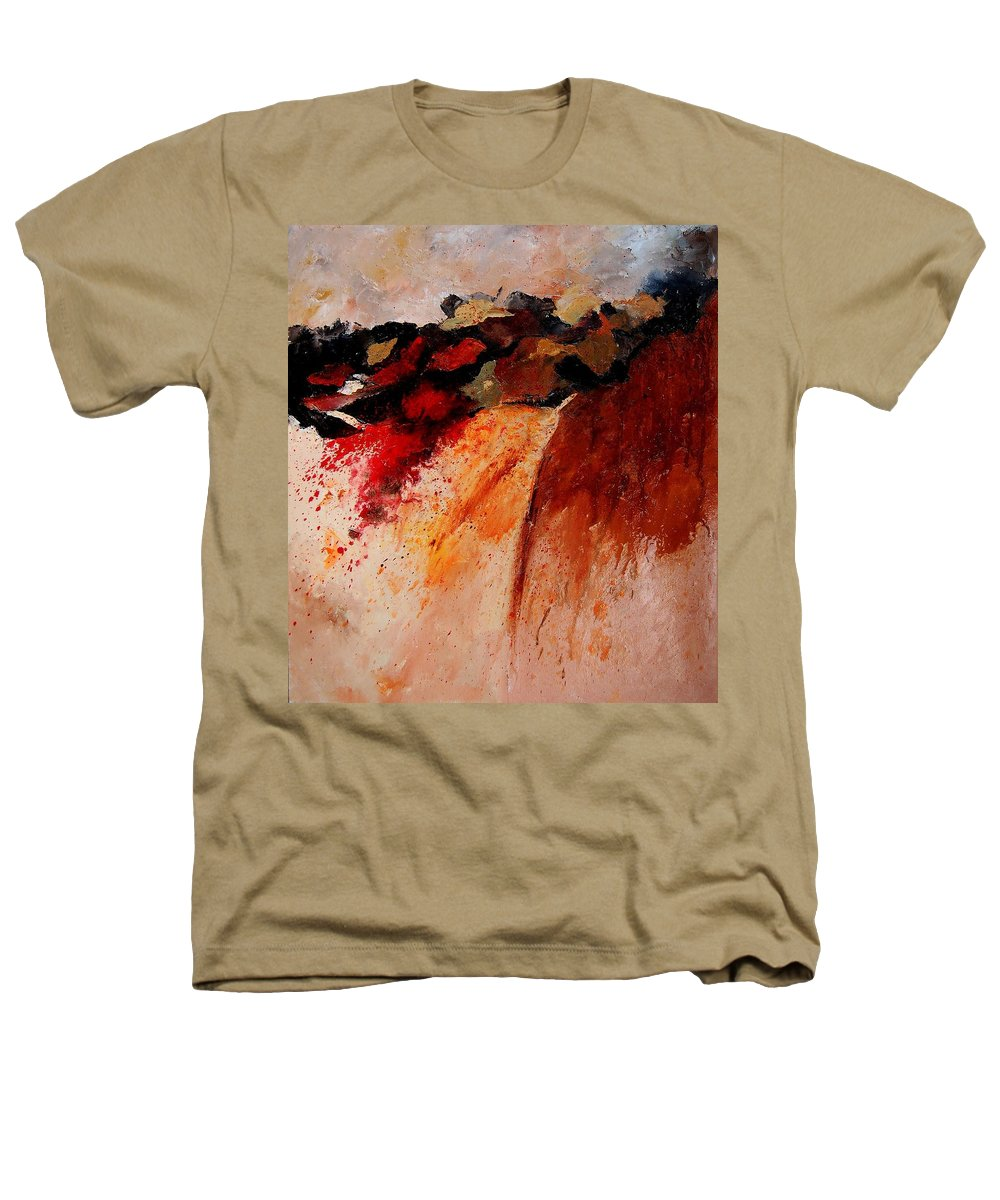 Abstract Heathers T-Shirt featuring the painting Abstract 010607 by Pol Ledent