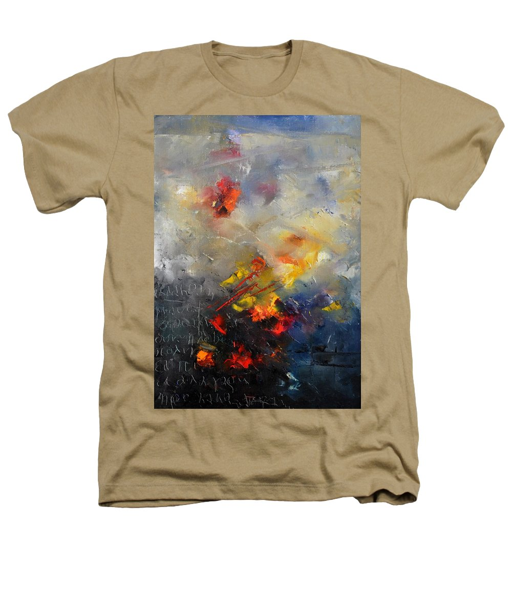 Abstract Heathers T-Shirt featuring the painting Abstract 0805 by Pol Ledent