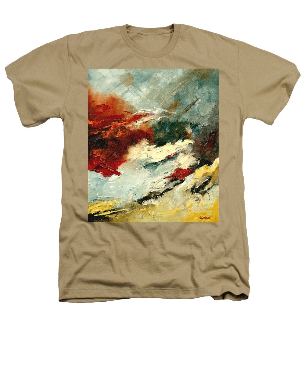 Abstract Heathers T-Shirt featuring the painting Abstract 9 by Pol Ledent