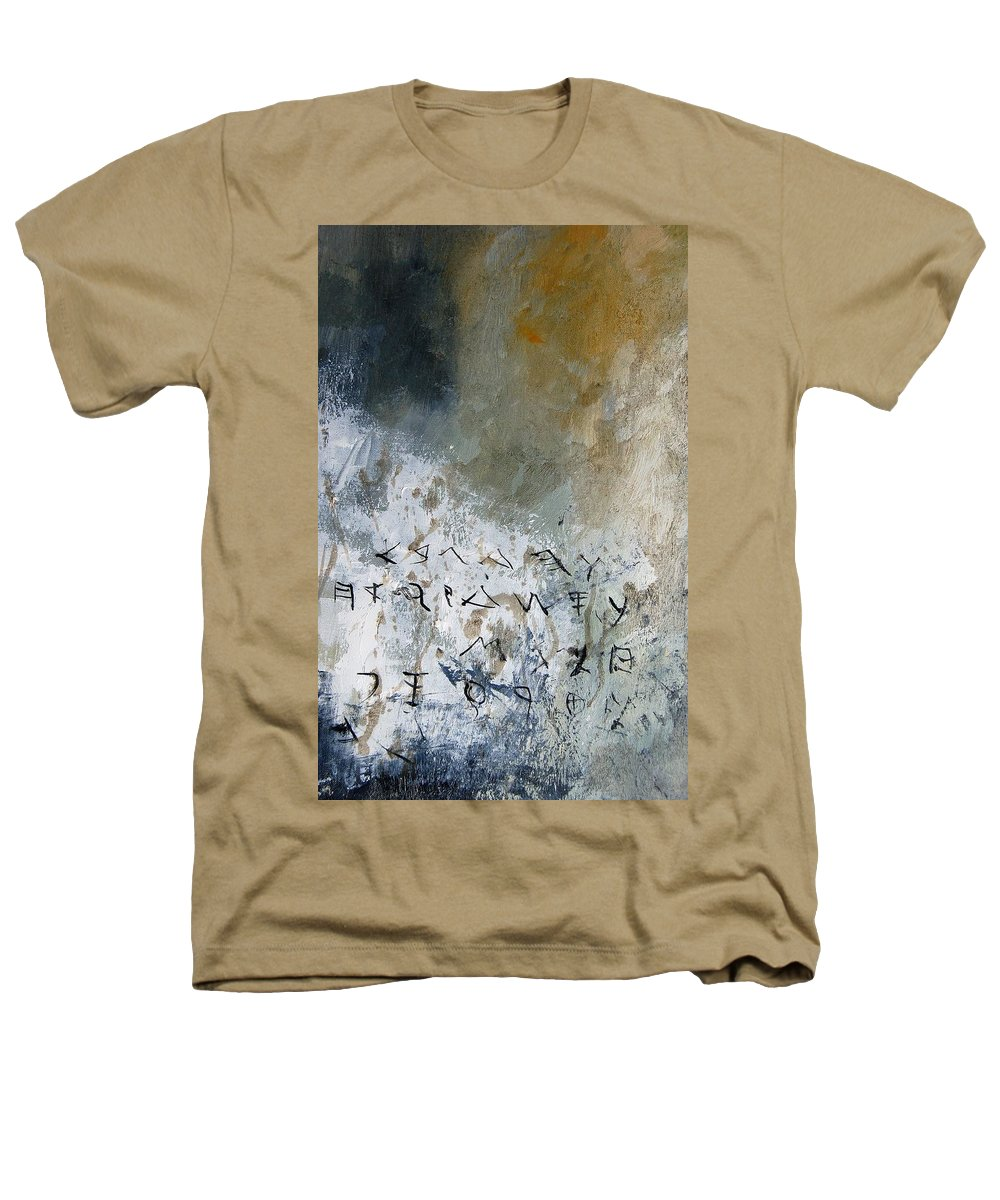 Abstract Heathers T-Shirt featuring the painting Abstract 904023 by Pol Ledent