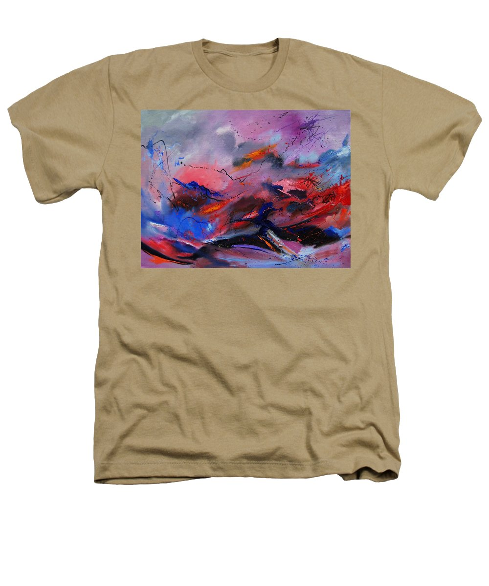 Abstract Heathers T-Shirt featuring the painting Abstract 971260 by Pol Ledent
