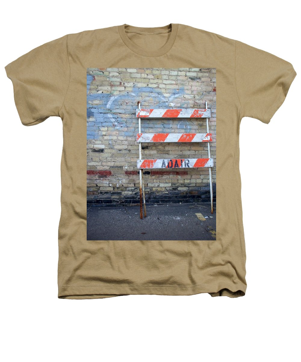 Industrial Heathers T-Shirt featuring the photograph Abstract Brick 1 by Anita Burgermeister