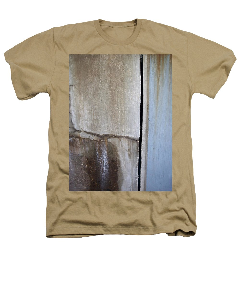 Industrial. Urban Heathers T-Shirt featuring the photograph Abstract Concrete 1 by Anita Burgermeister
