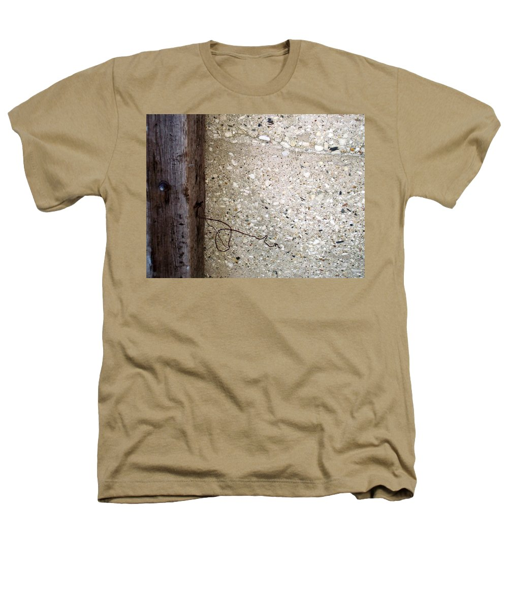Industrial. Urban Heathers T-Shirt featuring the photograph Abstract Concrete 12 by Anita Burgermeister