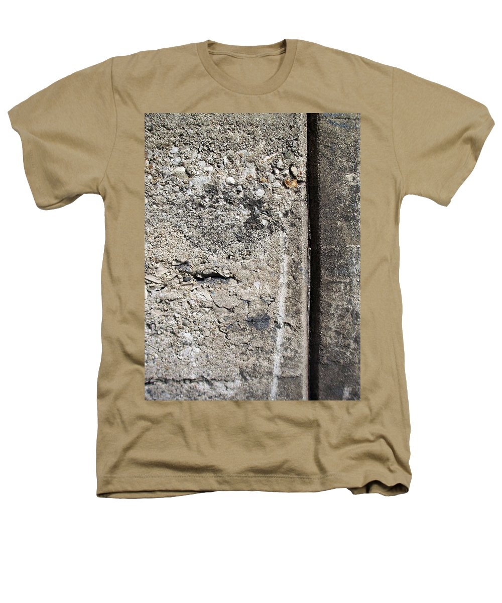 Industrial. Urban Heathers T-Shirt featuring the photograph Abstract Concrete 16 by Anita Burgermeister