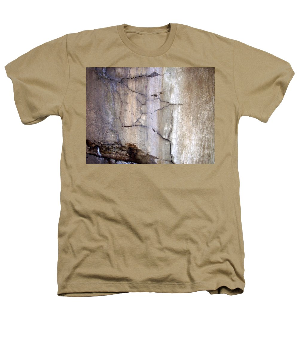 Industrial. Urban Heathers T-Shirt featuring the photograph Abstract Concrete 2 by Anita Burgermeister