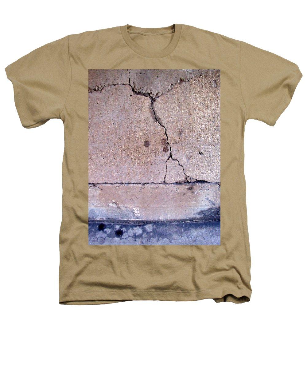 Industrial. Urban Heathers T-Shirt featuring the photograph Abstract Concrete 3 by Anita Burgermeister