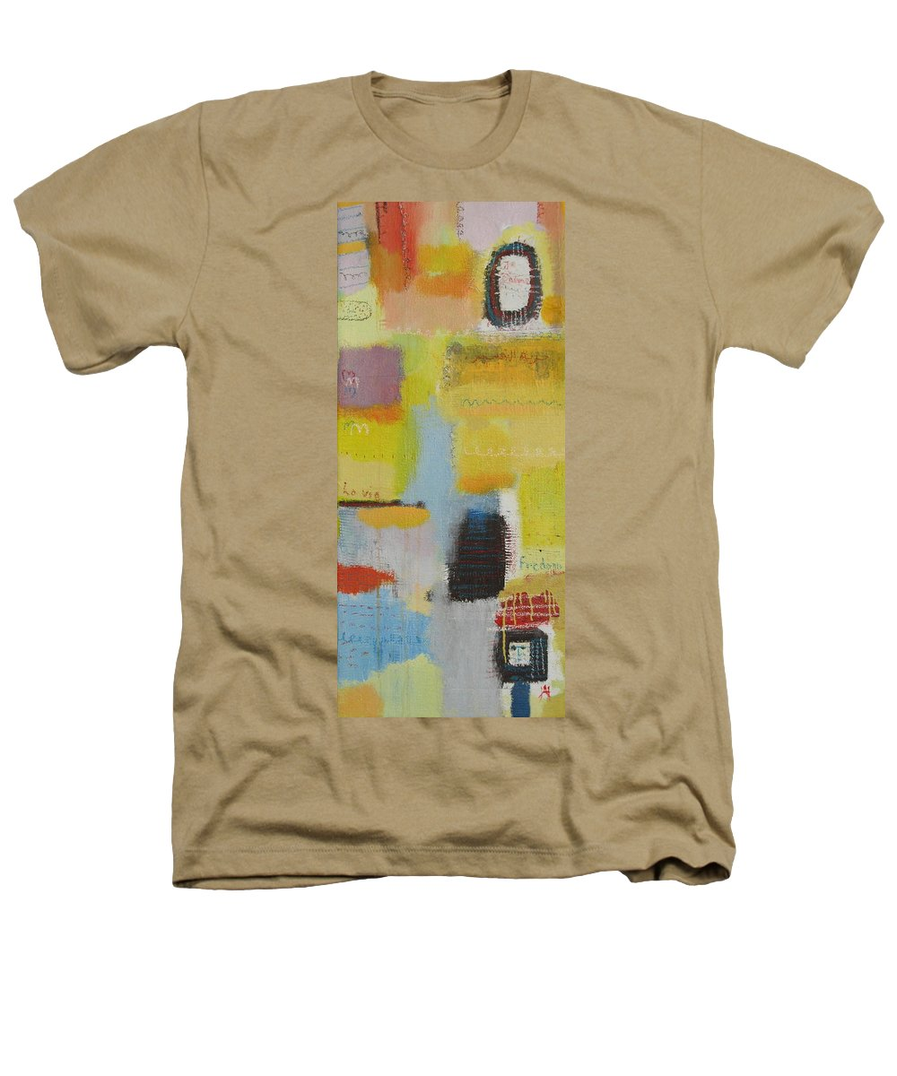 Abstract Heathers T-Shirt featuring the painting Abstract Life 3 by Habib Ayat