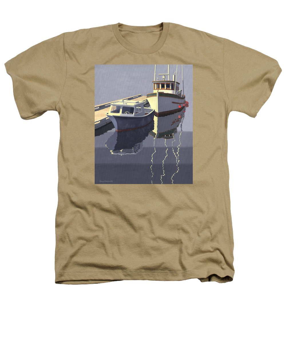 Boat Heathers T-Shirt featuring the painting After The Rain by Gary Giacomelli