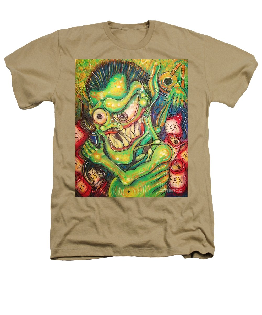 Beer Heathers T-Shirt featuring the painting Alcoholic Demon by Americo Salazar