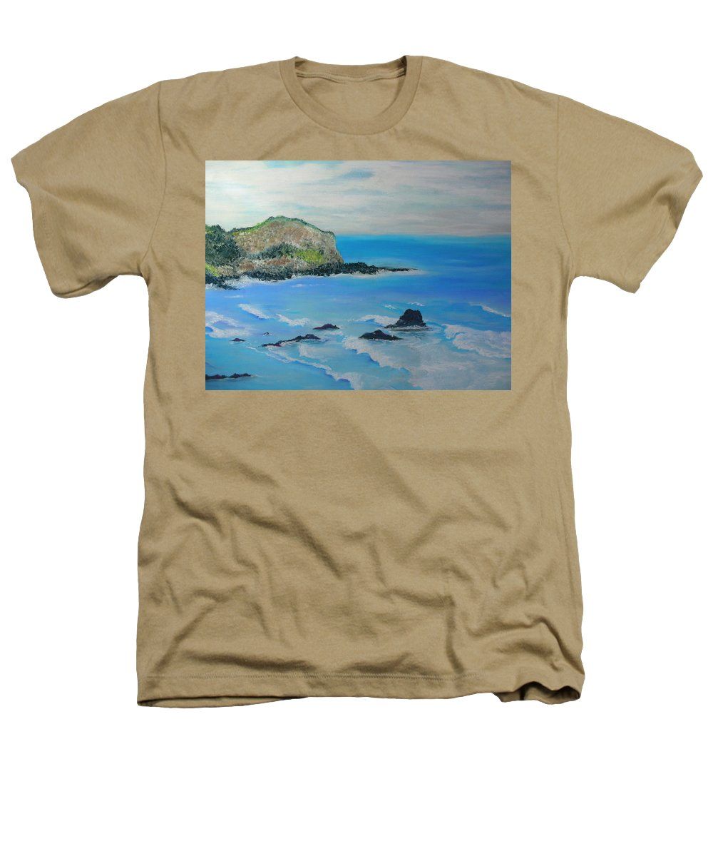 Hawaii Heathers T-Shirt featuring the painting Aloha by Melinda Etzold