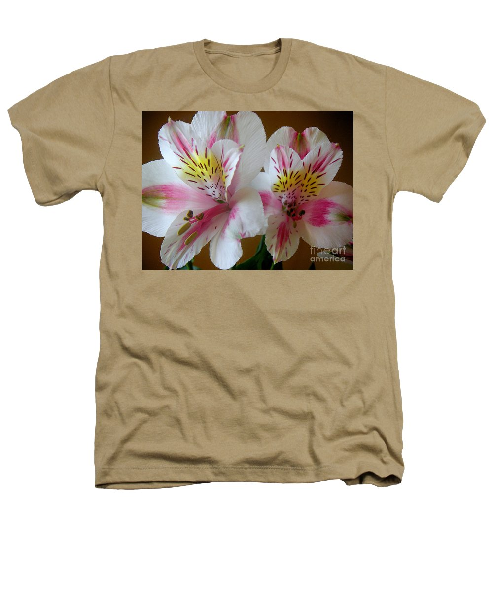 Nature Heathers T-Shirt featuring the photograph Alstroemerias - Heralding by Lucyna A M Green