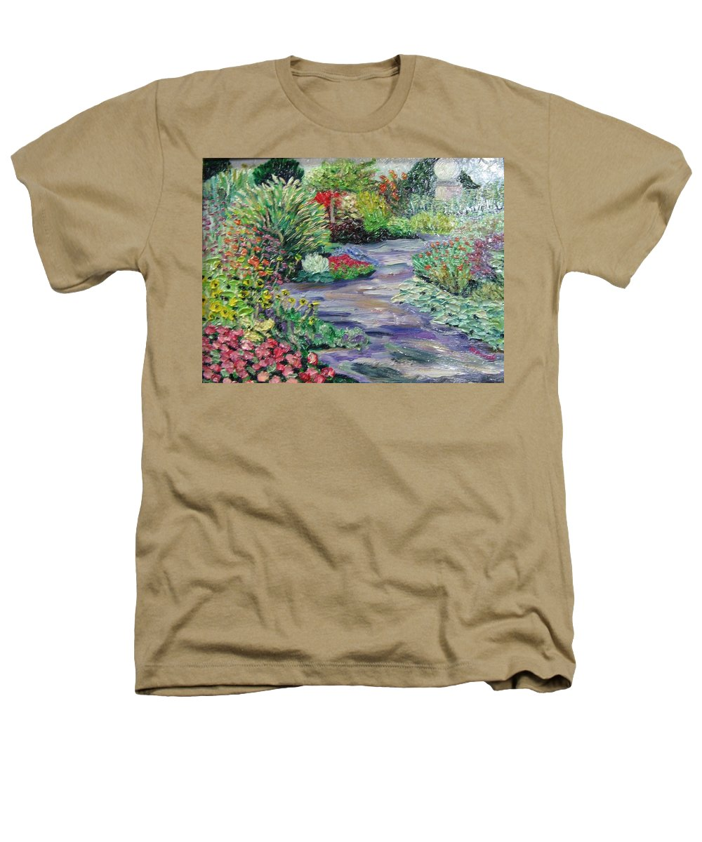 Park Heathers T-Shirt featuring the painting Amelia Park Blossoms by Richard Nowak