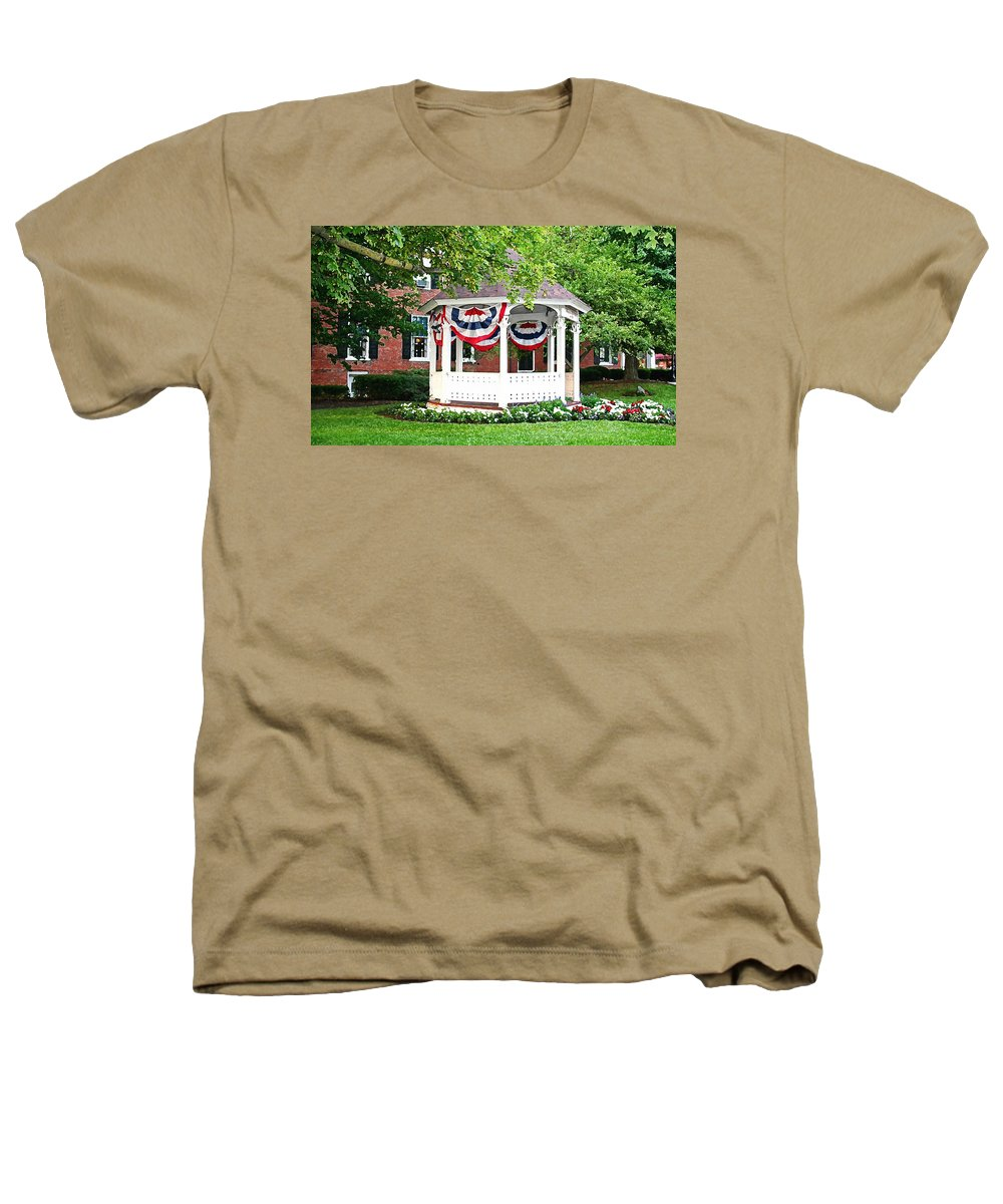 Gazebo Heathers T-Shirt featuring the photograph American Gazebo by Margie Wildblood