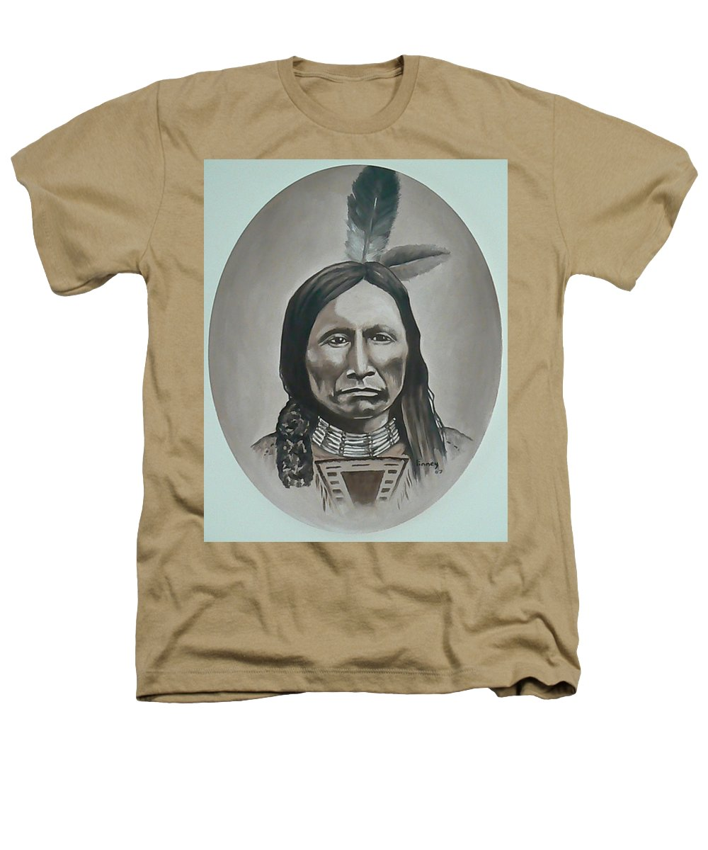 Michael Heathers T-Shirt featuring the painting American Horse by Michael TMAD Finney