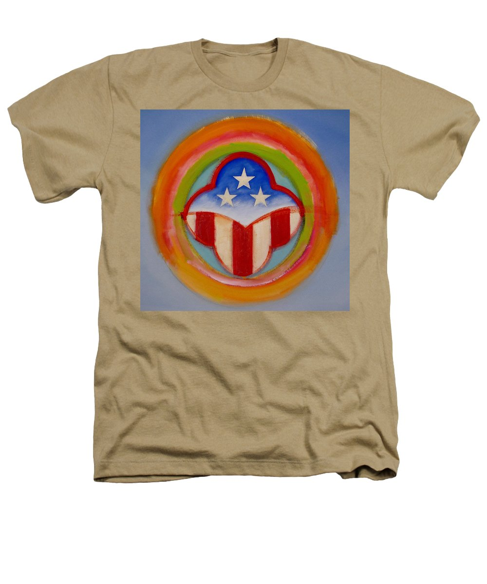 Logo Heathers T-Shirt featuring the painting American Three Star Landscape by Charles Stuart