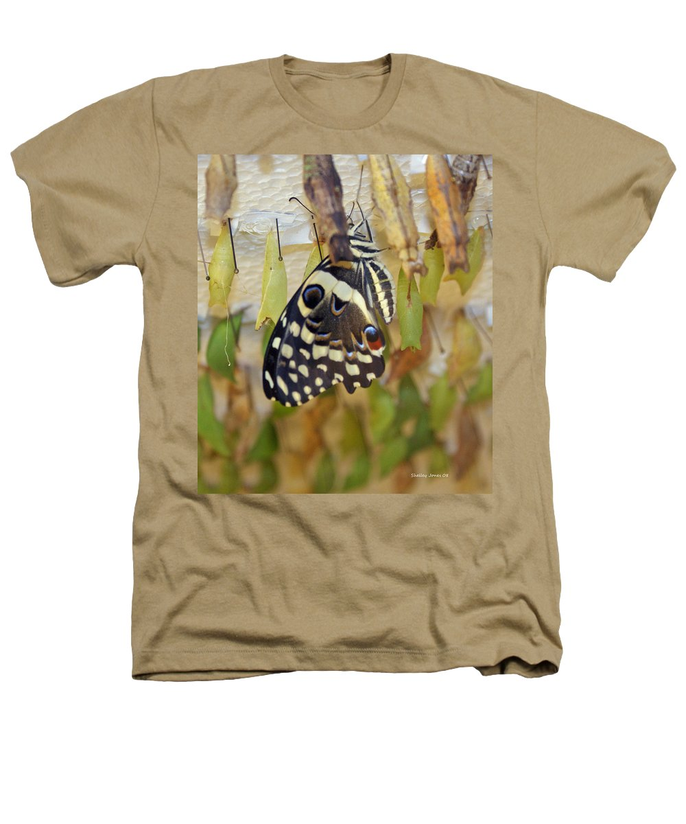 Butterfly Heathers T-Shirt featuring the photograph And Life Begins by Shelley Jones