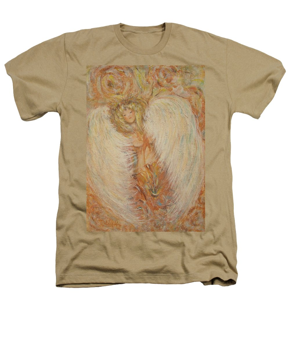 Angel Heathers T-Shirt featuring the painting Angel Loves You by Natalie Holland