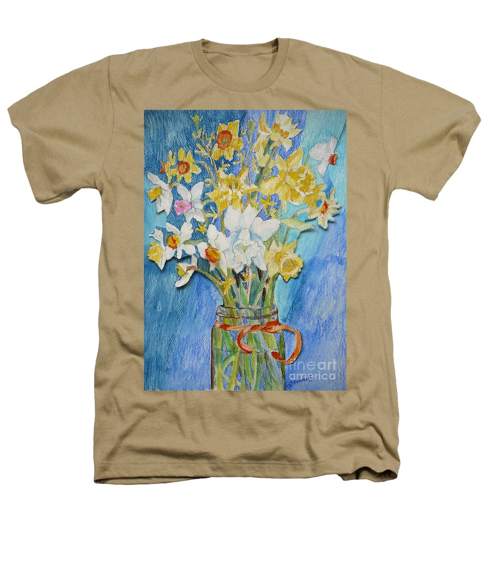 Flowers Heathers T-Shirt featuring the painting Angels Flowers by Jan Bennicoff