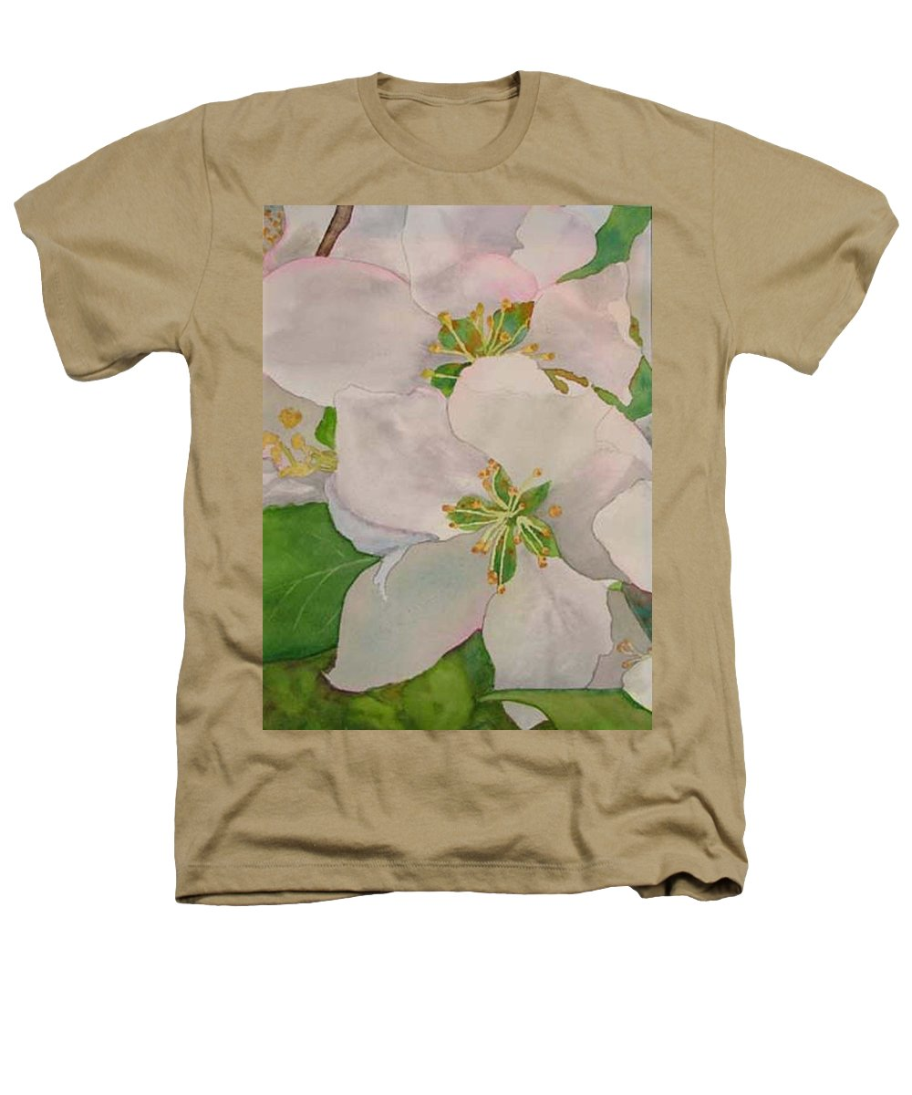 Apple Blossoms Heathers T-Shirt featuring the painting Apple Blossoms by Sharon E Allen