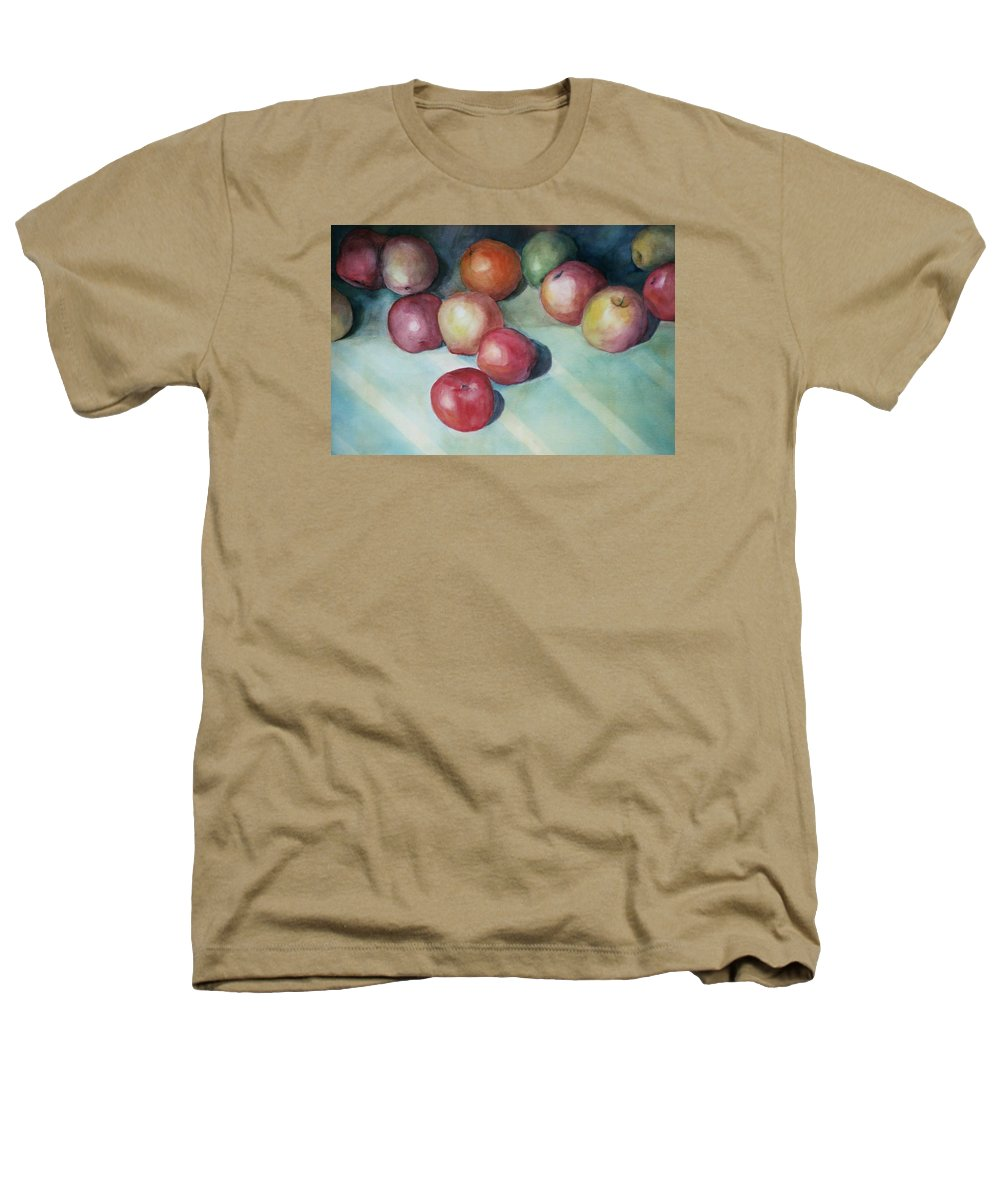 Orange Heathers T-Shirt featuring the painting Apples And Orange by Jun Jamosmos