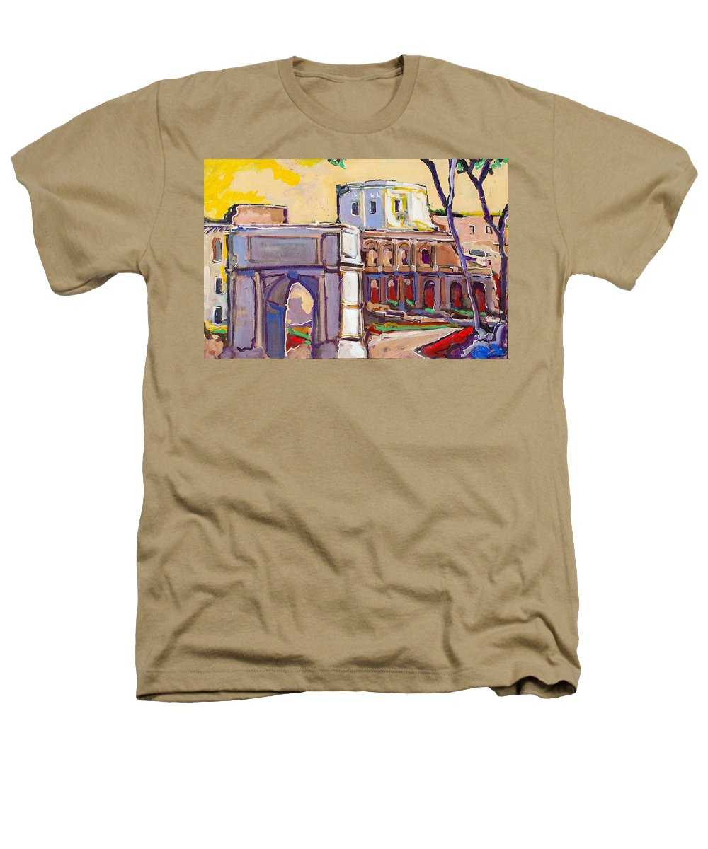 Rome Heathers T-Shirt featuring the painting Arco Di Romano by Kurt Hausmann