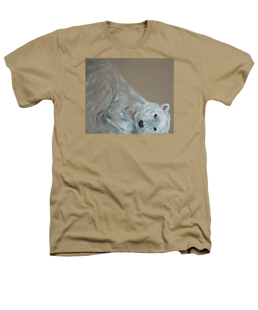 Polar Bear Heathers T-Shirt featuring the drawing Arctic Frolic by Cori Solomon