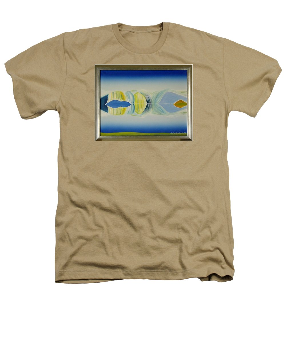 Landscape Heathers T-Shirt featuring the painting Arctic Landscape by Jarle Rosseland