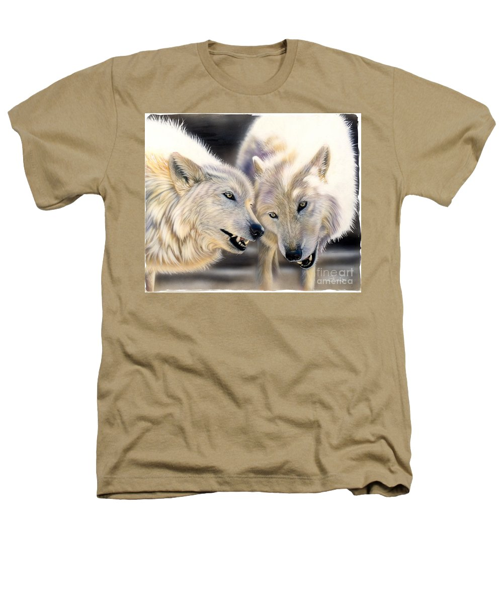 Acrylics Heathers T-Shirt featuring the painting Arctic Pair by Sandi Baker