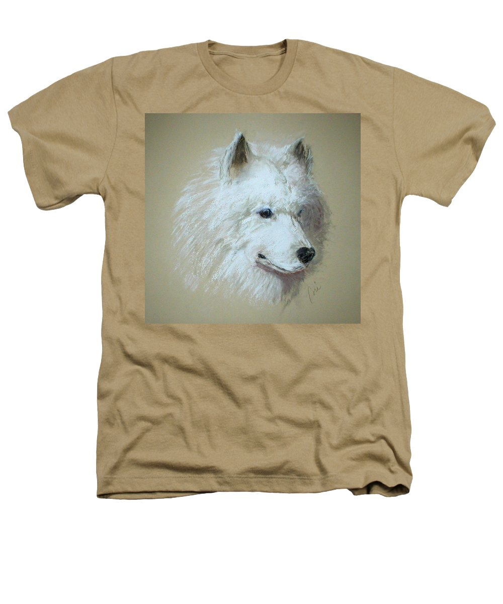 Dog Heathers T-Shirt featuring the drawing Arctic Serenity by Cori Solomon