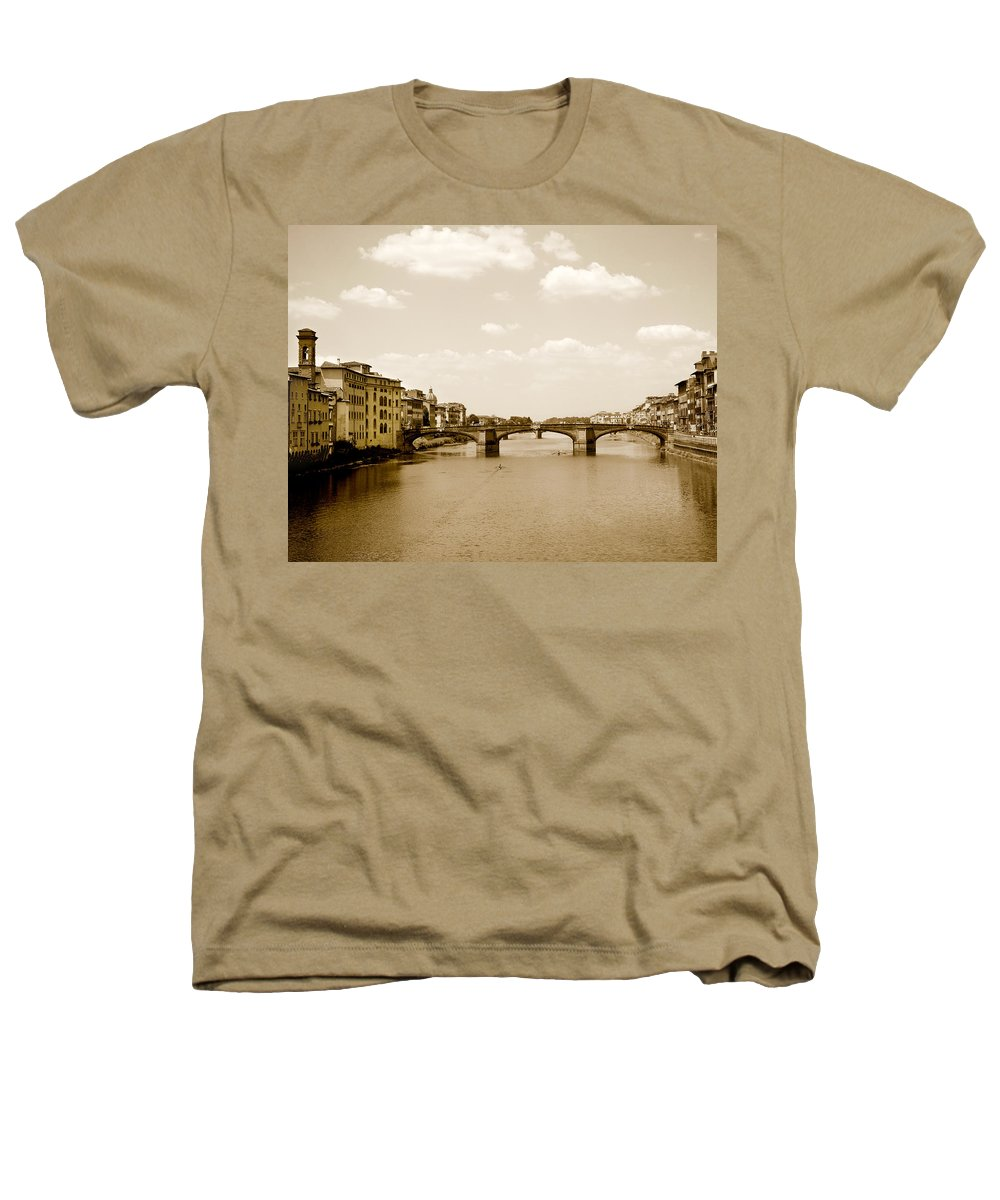 Italy Heathers T-Shirt featuring the photograph Arno River Florence by Marilyn Hunt