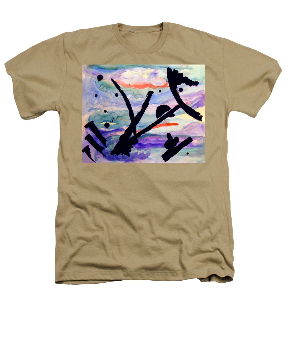 Abstract Heathers T-Shirt featuring the painting Asian Impression by Steve Karol