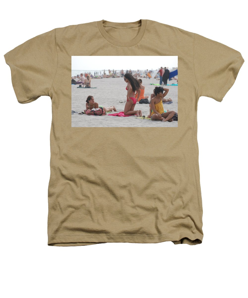 Girls Heathers T-Shirt featuring the photograph At The Beach by Rob Hans