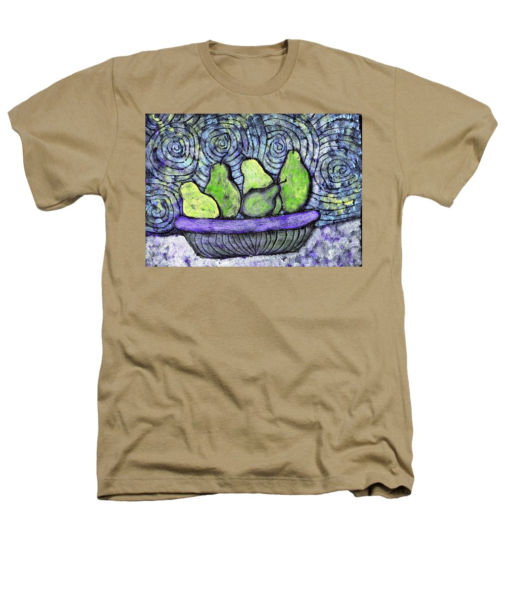 Food Heathers T-Shirt featuring the painting August Pears by Wayne Potrafka